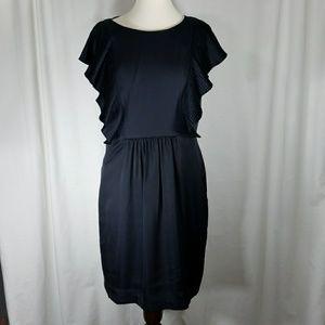 Ali Ro Navy Dress Sz 12- Small Hole@Zipper
